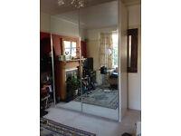 Large Italian Mirrored Wardrobe - sliding doors