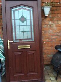 Composite high security Wood grain front door