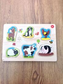 John Lewis wooden toddler puzzle with noises