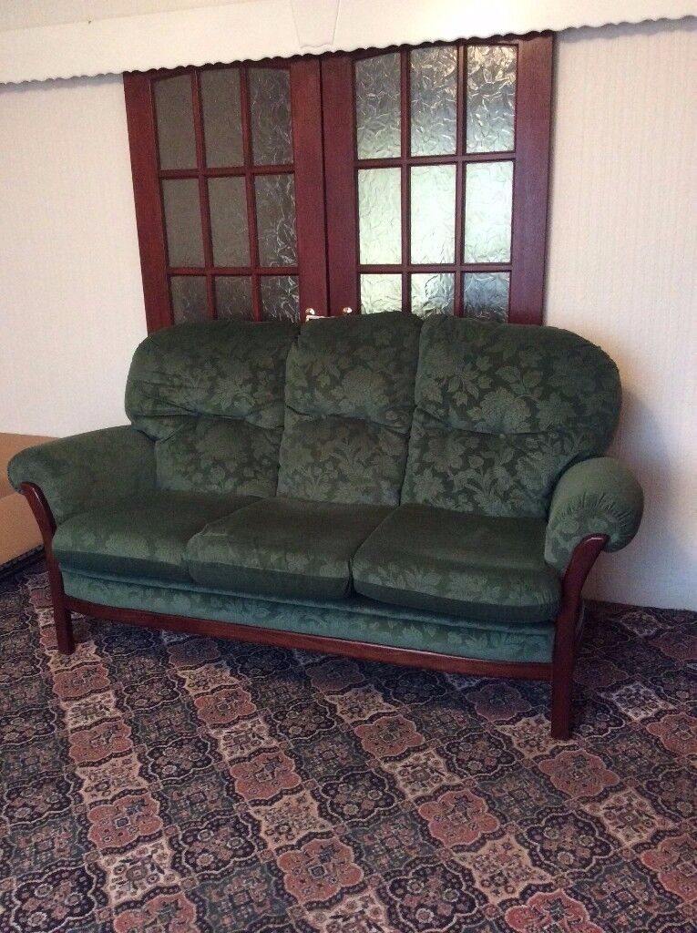 Three seater sofa and matching armchair (cottage style)