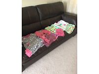 Girls 4 pairs pyjamas and dressing gown age 9-10 years