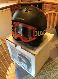 Childs Ski Helmet with Goggles