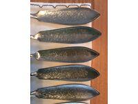 Set of 6 vintage fish knives and forks