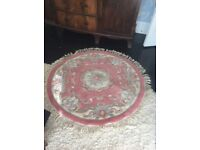 As new, circular pink rug for sale £10