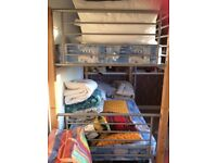 """Bunk beds only used a few times, great condition, good clean mattresses. 3' wide x 6'6"""" long"""