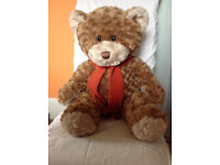 BHS BROWN TEDDY BEAR WITH SCARF - LARGE 40cm TALL - IDEAL GIFT