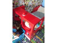 Kids fire engine bed very good condition no mattress bed only