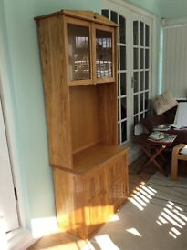 Handmade solid oak display cabinet