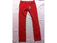 Ted Baker mens red jeans size w34L