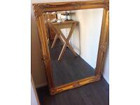 Large Guilt Framed Mirror (very heavy)