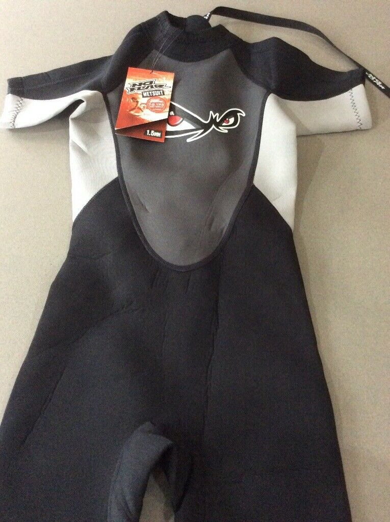 9af53612c44e Kids shorty wetsuit BNWT age 7-8 yrs, black and grey | in Horsham ...