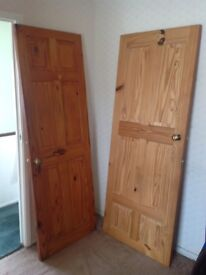 Free pine doors x 2