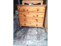 Nice pine 4 drawer cupboard good condition look