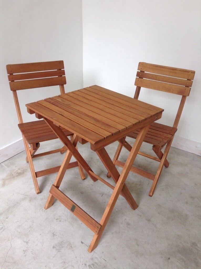 Wilko Fsc Wooden Bistro Set Table Amp 2 Chair Garden Set In Norwich Norfolk Gumtree