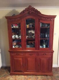 Large two section dresser type with storage unit below.