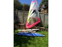 Wind Surfboard with 3 sails and multiple accessories
