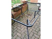 BLACK TABLE FRAME - good condition EXCELLENT For rennovation