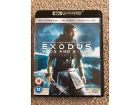 EXODUS GODS & KINGS - 4K ULTRA HD BLU RAY (PLUS BLU RAY & UV CODE)