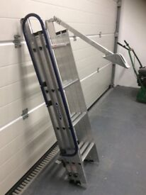 Aluminium 3 section loft ladder. Suitable for ceilings up to 3 m high.
