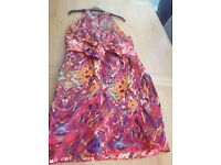 Colourful party dress size 14