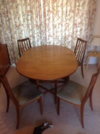 Oringinal 60's GPlan table & chairs