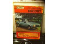 Autodata Manual For Ford Escort Mk 3, 1980