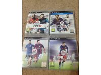 PS3 FIFA games (12,14,15 and 16)