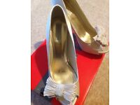 Size 8 Red Herring cream high heels wedding/bridal shoes