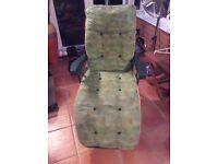 2 x garden reclining chairs