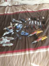 Star Wars massive bundle ships and characters excellent condition