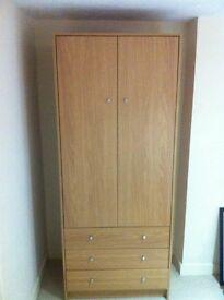 Wardrobe - 2 door - 3 drawer - as new condition