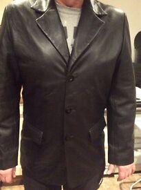 Leather jacket. Black large size