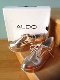 Aldo (brogues type) shoes in rose gold size UK 4 EU (37) US 7