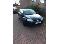 55 PLATE BLACK 3 DOOR GOLF TDI SPORTS-FULL MOT
