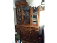 Light Brown Decoratively Carved Cupboard -Living/Dining room Centrepiece.