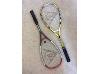 Dunlop squash racquets - 2 available