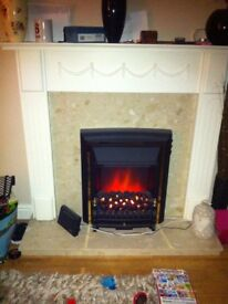 Stunning fire surround plus fire electric