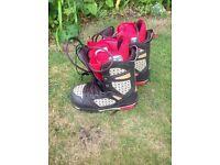Snowboard/boots, bindings and board bag