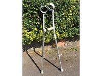 Pair Of Adjustable Aluminium Crutches