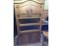Mexican pine large corner unit and smaller tv unit