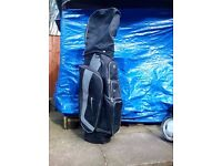 Black,Nike golf bag with ProAction clubs