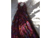 Girls Long Halterneck Butterfly dress