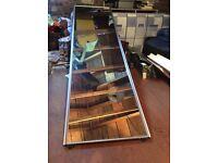 Silver finish mirrored sliding wardrobe doors 222cm x 61.5 cm
