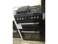 Leisure classic double oven. Black. Gas. 60cm new/graded 12 month Gtee