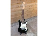 Encore 1/2 size electric guitar. Stratocaster copy. Perfect Christmas present for young learner.