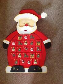 Wooden Santa advent calendar