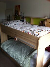 Little Trading Company Bunk beds with steps, storage shelves, trundle bed, mattresses included
