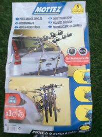 Mounted bike rack.