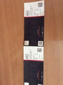 2 X Adele Finale tickets, 29 June, Wembley Stadium