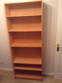 Beech storage shelves X 2